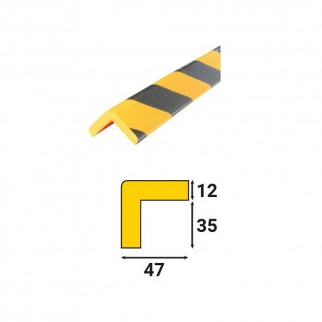 Profilés de protection - Modèle H pour angle droit - 1m