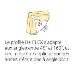 Profilés de protection - Modèle H+ FLEX pour angle - 1m