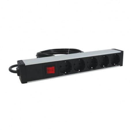 Bloc électrique 5 prises + 1 interrupteur
