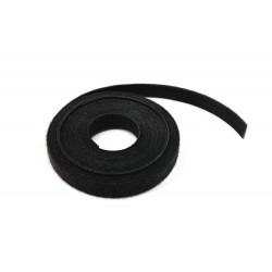 Collier Velcro noir recto/verso - range cable - Rouleau 5m