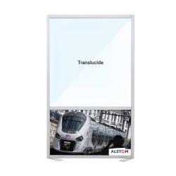 Panneau de communication plein - Translucide + impression personnalisée