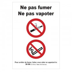 Pictogramme Interdiction de vapoter B732