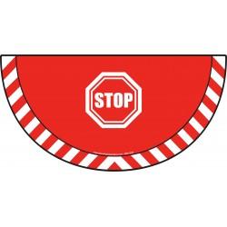 Picto demi cercle Cat.1 - visuel B701 - Interdit d'avancer sans marquer l'arrêt