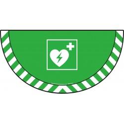 Picto demi cercle Cat.1- visuel E010 - Défibrillateur
