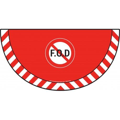 Picto demi cercle Cat.1 - visuel B735 - Interdiction de laisser trainer des pièces