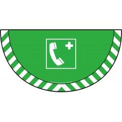 Picto demi cercle Cat.1 - visuel E004 - Téléphone d'urgence