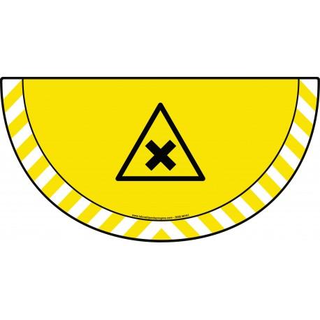 Picto demi cercle Cat.1 - visuel W151 - Danger matières nocives ou irritantes