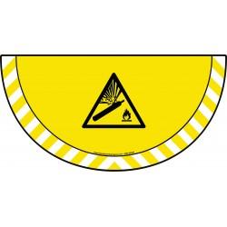 Picto demi cercle Cat.1 - visuel W029 - Danger bouteilles pressurisée