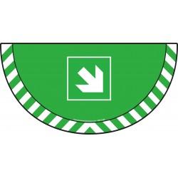 Picto demi cercle Cat.1 - visuel E006 - Flèche angle