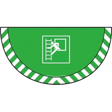 Picto demi cercle Cat.1 - visuel E016 - Fenêtre avec échelle de secours