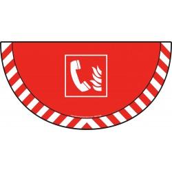 Picto demi cercle Cat.1 - visuel F006 - Téléphone d'urgence