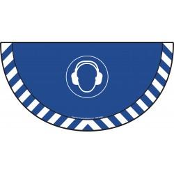 Picto demi cercle Cat.1 - visuel M003 - Port du casque anti-bruit obligatoire