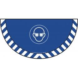 Picto demi cercle Cat.1 - visuel M004 - Port des lunettes de protection obligatoire