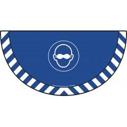 Picto demi cercle Cat.1 - visuel M007 - Port des lunettes opaques obligatoire