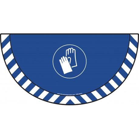 Picto demi cercle Cat.1 - visuel M009 - Port des gants obligatoire