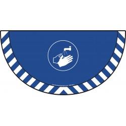 Picto demi cercle Cat.1 - visuel M011 - Lavage des mains obligatoire