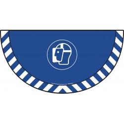 Picto demi cercle Cat.1 - visuel M013 - Visière de protection obligatoire