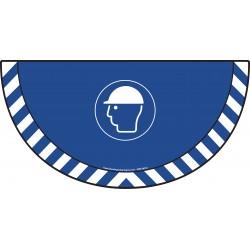 Picto demi cercle Cat.1 - visuel M014 - Port du casque de protection obligatoire