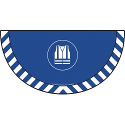 Picto demi cercle Cat.1 - visuel M015 - Gilet de sécurité haute visibilité obligatoire