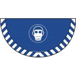 Picto demi cercle Cat.1 - visuel M017 - Masque de protection respiratoire obligatoire