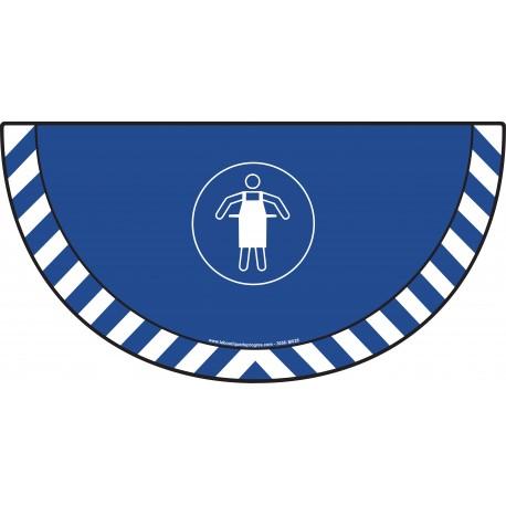 Picto demi cercle Cat.1 - visuel M026 - Tablier de protection obligatoire