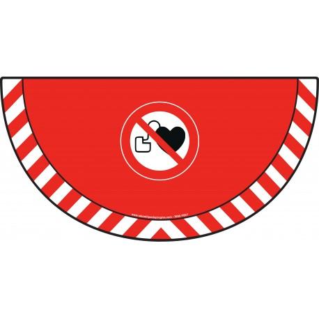 Picto demi cercle Cat.1 - visuel P007 - Stimulateur cardiaque : entrée interdite