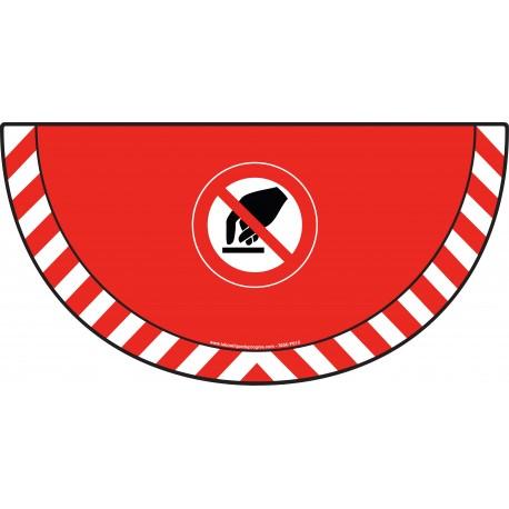 Picto demi cercle Cat.1 - visuel P010 - Interdiction de toucher