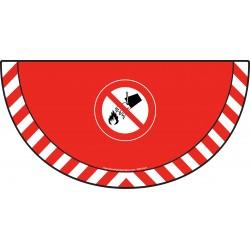 Picto demi cercle Cat.1 - visuel P011 - Interdiction d'éteindre avec de l'eau