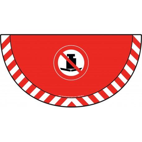 Picto demi cercle Cat.1 - visuel P012 - Interdiction aux charges lourdes