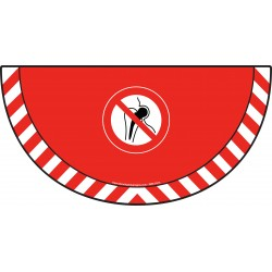 Picto demi cercle Cat.1 - visuel P014 - Implants métalliques : entrée interdite