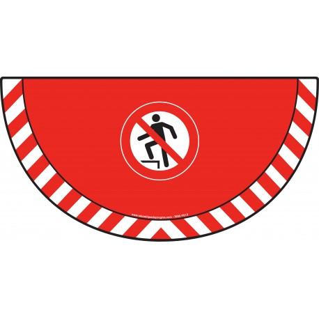 Picto demi cercle Cat.1 - visuel P019 - Interdiction de marcher sur la surface