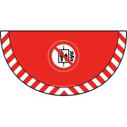 Picto demi cercle Cat.1 - visuel P020 - Ascenseur interdit en cas d'incendie