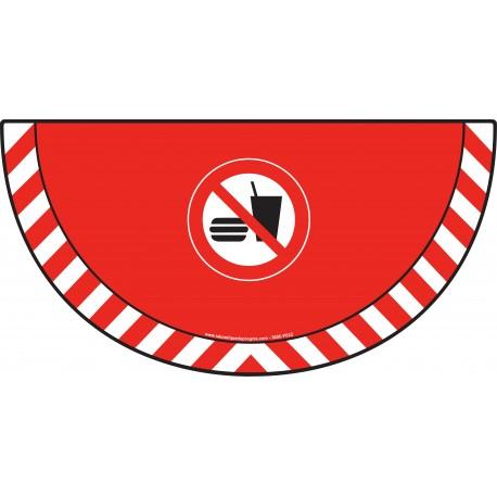 Picto demi cercle Cat.1 - visuel P022 - Interdiction de manger ou boire