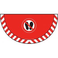 Picto demi cercle Cat.1 - visuel P024 - Interdiction de marcher ou stationner