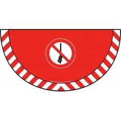 Picto demi cercle Cat.1 - visuel P030 - Interdiction de faire des nœuds sur la corde
