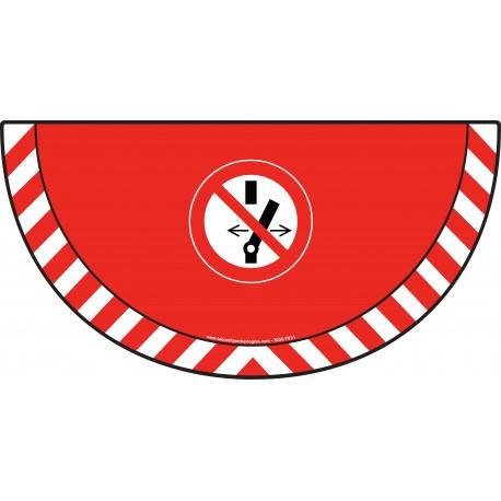 Picto demi cercle Cat.1 - visuel P031 - Interdiction de modifier l'interrupteur