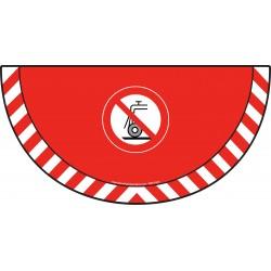 Picto demi cercle Cat.1 - visuel P033 - Interdiction d'utiliser pour rectification humide