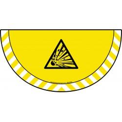 Picto demi cercle Cat.1 - visuel W002 - Danger matières explosives