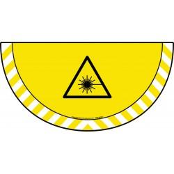 Picto demi cercle Cat.1 - visuel W004 - Danger rayonnement laser