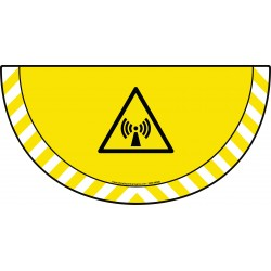 Picto demi cercle Cat.1 - visuel W005 - Danger radiations non ionisantes