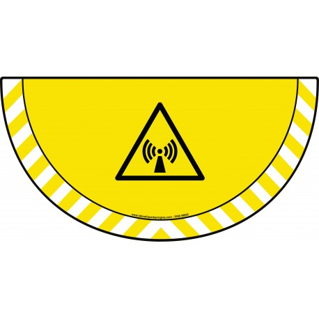 Picto demi cercle Cat.1 - visuel W005 - Danger radiations non ionisantes