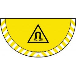 Picto demi cercle Cat.1 - visuel W006 - Danger champ magnétique