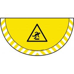 Picto demi cercle Cat.1 - visuel W007 - Danger trébuchement