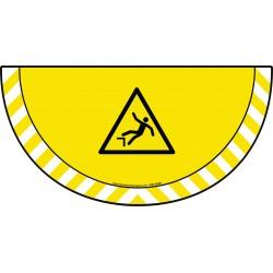 Picto demi cercle Cat.1 - visuel W008 - Danger de chute