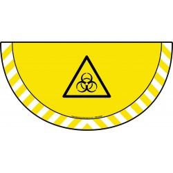 Picto demi cercle Cat.1 - visuel W009 - Danger risque biologique