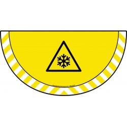 Picto demi cercle Cat.1 - visuel W010 - Danger conditions de gel
