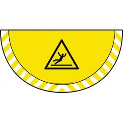 Picto demi cercle Cat.1 - visuel W011 - Danger surface glissante
