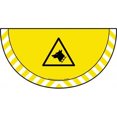 Picto demi cercle Cat.1 - visuel W013 - Danger chien de garde