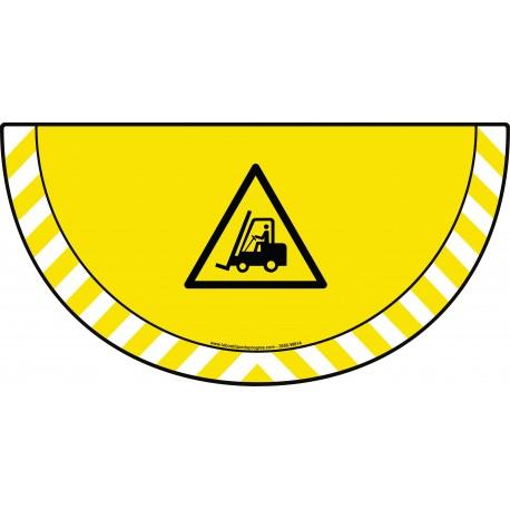 Picto demi cercle Cat.1 - visuel W014 - Danger passage de véhicules industriels