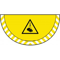 Picto demi cercle Cat.1 - visuel W015 - Danger charges suspendues